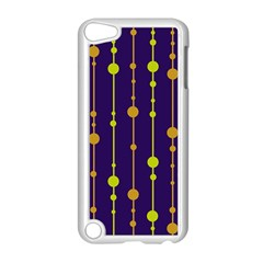 Deep blue, orange and yellow pattern Apple iPod Touch 5 Case (White)