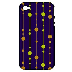 Deep blue, orange and yellow pattern Apple iPhone 4/4S Hardshell Case (PC+Silicone)