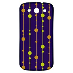Deep blue, orange and yellow pattern Samsung Galaxy S3 S III Classic Hardshell Back Case