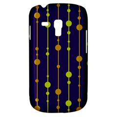 Deep blue, orange and yellow pattern Samsung Galaxy S3 MINI I8190 Hardshell Case