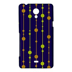 Deep blue, orange and yellow pattern Sony Xperia T