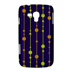 Deep blue, orange and yellow pattern Samsung Galaxy Duos I8262 Hardshell Case