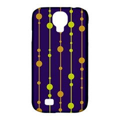 Deep blue, orange and yellow pattern Samsung Galaxy S4 Classic Hardshell Case (PC+Silicone)