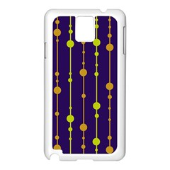 Deep blue, orange and yellow pattern Samsung Galaxy Note 3 N9005 Case (White)