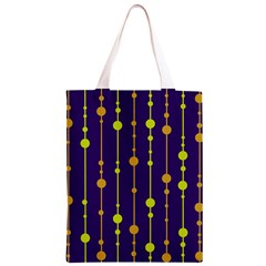 Deep blue, orange and yellow pattern Classic Light Tote Bag