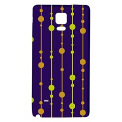 Deep blue, orange and yellow pattern Galaxy Note 4 Back Case