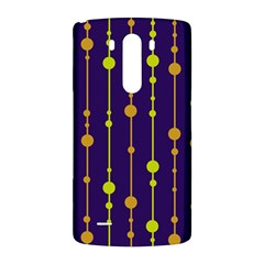 Deep blue, orange and yellow pattern LG G3 Back Case