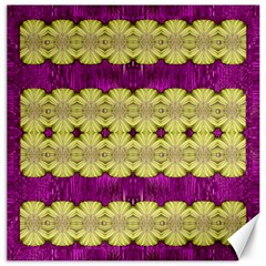 Purple Gold Floral And Paradise Bloom Canvas 20  X 20
