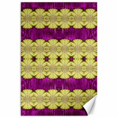 Purple Gold Floral And Paradise Bloom Canvas 24  X 36