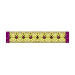 Purple Gold Floral And Paradise Bloom Flano Scarf (Mini)