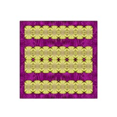 Purple Gold Floral And Paradise Bloom Satin Bandana Scarf