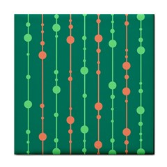 Green Pattern Tile Coasters