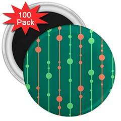 Green pattern 3  Magnets (100 pack)