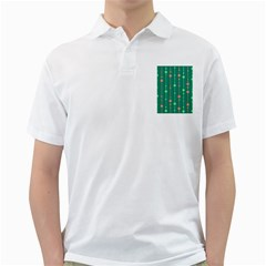 Green Pattern Golf Shirts