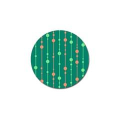 Green pattern Golf Ball Marker