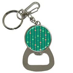 Green pattern Bottle Opener Key Chains