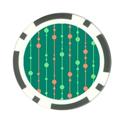 Green pattern Poker Chip Card Guards