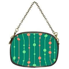 Green pattern Chain Purses (Two Sides)