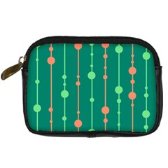 Green pattern Digital Camera Cases