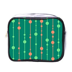 Green pattern Mini Toiletries Bags