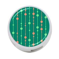 Green pattern 4-Port USB Hub (Two Sides)