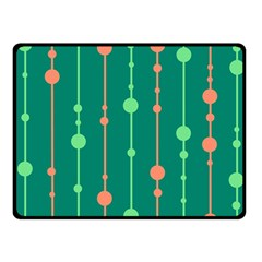Green pattern Fleece Blanket (Small)