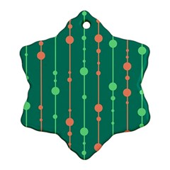 Green pattern Snowflake Ornament (2-Side)