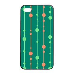 Green pattern Apple iPhone 4/4s Seamless Case (Black)