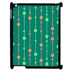 Green pattern Apple iPad 2 Case (Black)