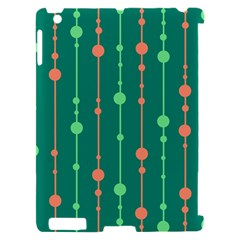 Green pattern Apple iPad 2 Hardshell Case (Compatible with Smart Cover)
