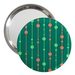 Green pattern 3  Handbag Mirrors