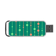 Green pattern Portable USB Flash (Two Sides)