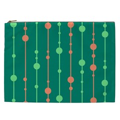 Green pattern Cosmetic Bag (XXL)