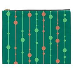 Green pattern Cosmetic Bag (XXXL)