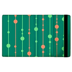 Green pattern Apple iPad 3/4 Flip Case