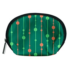 Green pattern Accessory Pouches (Medium)
