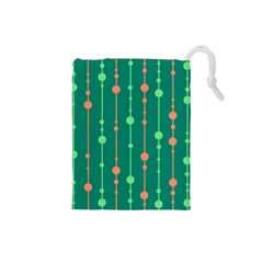 Green pattern Drawstring Pouches (Small)