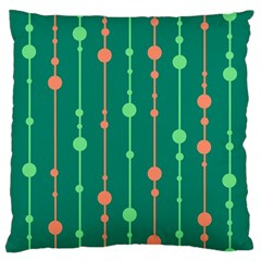 Green pattern Standard Flano Cushion Case (One Side)