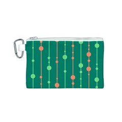 Green pattern Canvas Cosmetic Bag (S)