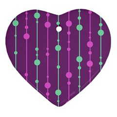 Purple and green pattern Ornament (Heart)