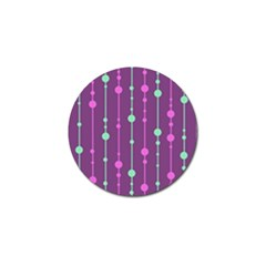 Purple and green pattern Golf Ball Marker (10 pack)