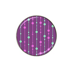 Purple and green pattern Hat Clip Ball Marker (10 pack)