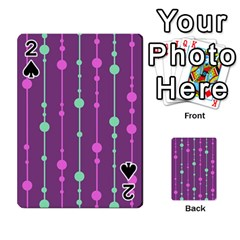 Purple and green pattern Playing Cards 54 Designs