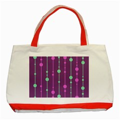 Purple and green pattern Classic Tote Bag (Red)