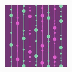 Purple and green pattern Medium Glasses Cloth (2-Side)