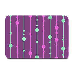 Purple and green pattern Plate Mats