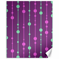 Purple and green pattern Canvas 11  x 14