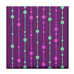 Purple and green pattern Face Towel