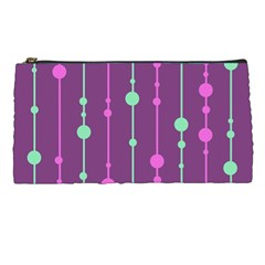 Purple and green pattern Pencil Cases