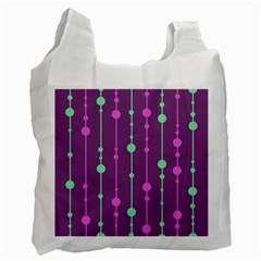 Purple and green pattern Recycle Bag (One Side)